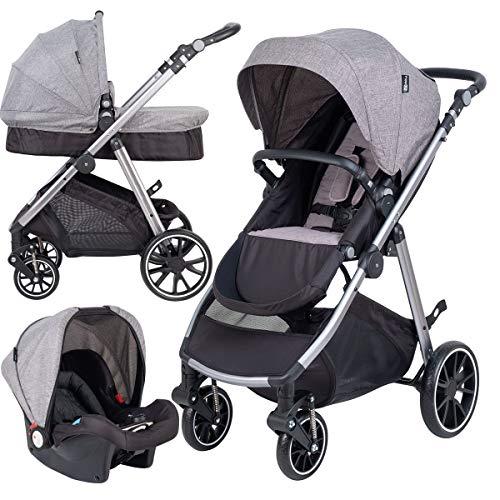 FreeON Kinderwagen Move 3 in 1 Lichtgrijs (incl. autostoel)