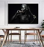 Rahmenlose Malerei Abstrakte Kunst Afrikanische Frau Poster