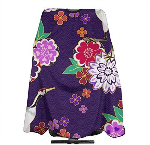 Glas Perilla Decoratieve Kimono Patroon Vector Afbeelding Gepersonaliseerde Aangepaste Profionale Haarsalon Apron, Polyester Haar Sjaal 55