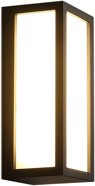 AXWT Outdoor Wandleuchte Outdoor Wasserdicht Balkon Gang Kreative Einfache Moderne Treppenhaus Hotel Wandleuchte LED Wandscheinwerfer