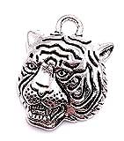 H-Customs Tiger Tigerkopf Panther Tier Charm Anhänger Kettenanhänger Bastelbedarf Schmuck