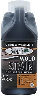 Saman 5950473 Interior Water Based Wood Stain, Dark Oak, 32 Oz (Pack of 12)