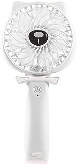 SHANGRUIYUAN-Mini Fan USB Handheld Multifunction Fan Portable Personal Fan Rechargeable Battery Operated Powered Cooling Desktop Electric Fan (Color : Blue)