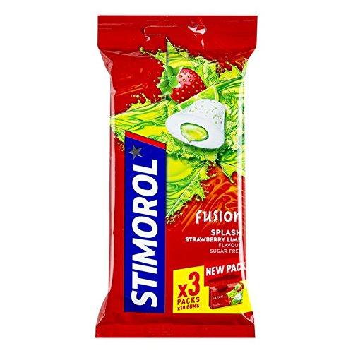 Stimorol | Max Splash Fresa Lima | 3 Paquetes | Peso total de 66gr / 2.33oz