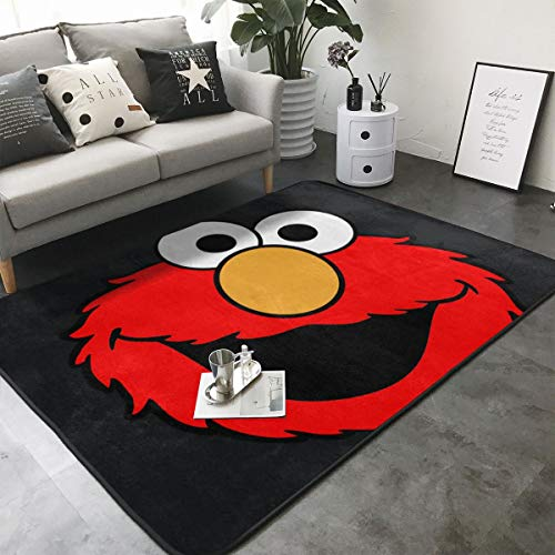 Area Rugs Elmo Lightweight Soft Non-Slip Mat Children Crawling Indoor Floor Carpet Home Decoration for Kids Room Living Room Bedroom 80 X 58 Inches