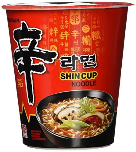Nong Shim Instantnudeln Shin Ramyun – Koreanische Cup Suppe scharf - schnelle Zubereitung – 6er Vorteilspack à 68g