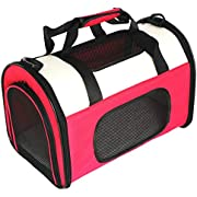 Petsfit Lightweight Fabric Pet Carrier with Fleece Mat and Food Pocket Cat Carrier/Cat Carry Case - Medium (50 x 29 x 31cm)