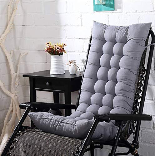 Seat Cushion Chair Solide langes Kissen-Matte Kissen für Recliner Rocking Rattan Stuhl Falten Dicke Garten Sonne Lounge Sitz Sofa Tatami Matte Kein Stuhl Seat Cushion Chair (Color : Grey Cushion)