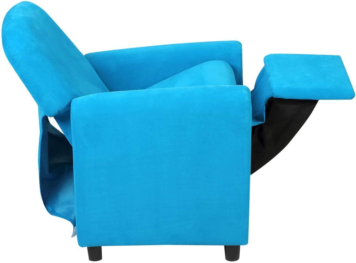 Lounge Furniture for Boys Girls Children Suede Armchair Brown Kids Recliner Sofa HOMGX