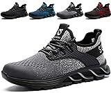SUADEX Zapatos de Seguridad con Punta de Acero para Hombre Mujer - Cómodos Ligeros y Transpirables Gris 43EU