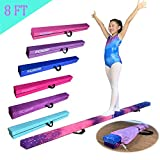 FC FUNCHEER 8FT Folding Gymnastic Beam,Wood core Anti-Slip Bottom with Carrying Handle