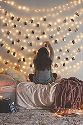12APM 33Ft/66Ft 200leds Waterproof Copper Wire Starry String Fairy Lights USB Powered Hanging for Bedroom Indoor Outdoor Warm White Ambiance Lighting for Patio Wedding Decor