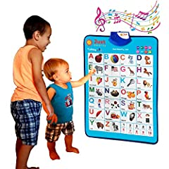 &#9989 EDUCATIONAL TOY FOR EARLY CHILD DEVELOPMENT – Toddlers and young children get to learn the alphabet, word association, learn the numbers and take quizzes &#9989 GREAT ADDITION TO YOUR NURSERY OR GAME ROOM – This interactive ABC wall poster wil...