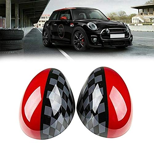 Puerta Del Coche Del Espejo Del Lado Covers Ajuste For Mini Cooper...