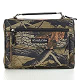 Camouflage Poly-Canvas Bible / Book Cover w/'Stand Firm' Tag - 1 Corinthians 16:13