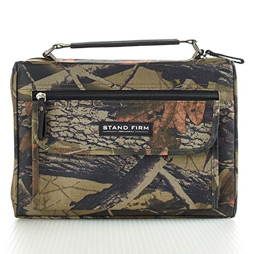 Mossy Oak Camo Poly-Canvas Bible / Book Cover w/'Stand Firm' Tag - 1 Corinthians 16:13 (Medium)