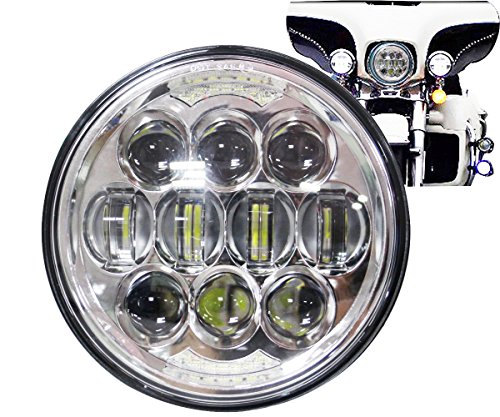 COWONE 80W 5-3/4 5.75 LED Headlight Compatible with Harley Dyna Sportster 883 Triple Low Rider Wide Glide Motorcycle Headlamp Projector Driving Light