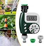 infinitoo Automatic Watering Timer Device, Timing Watering Sprinkler Controller, Waterproof LCD Display, Automatic Irrigation for Gardening Plant, Balcony, Vegetable Garden, Up To 30 Days