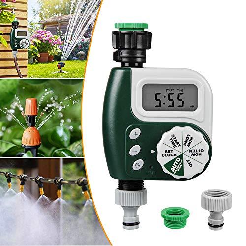 Programmatore di Irrigazione,Timer Irrigazione Automatico con LED Display, Temporizzatori per irrigatori Digitale per Giardino Sistema di irrigazione Irrigazione Fino a 30 Giorni
