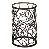 Linon Bird and Branch Accent Table, Brown