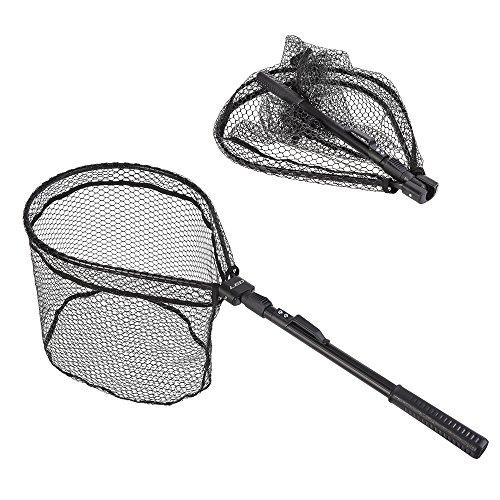 Lixada Angeln Kescher Portable Faltbare Leichte Net Nylon Mesh Angeln Brail Net Aluminiumlegierung Rahmen Angeln Fang Freigabe Net Fly Angelausrüstung
