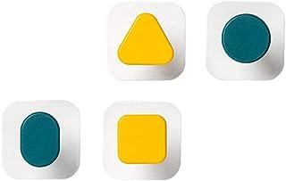Cabilock 4個ミニマリストの壁フック幾何学形状クウォールマウントコートラック痕跡バックパックタオル帽子ハンガー浴室の寝室のための店黄緑