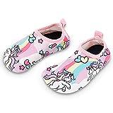 Bigib Toddler Kids Swim Water Shoes Quick Dry, Unicorn, Size Toddler 5.0