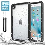 MoKo Case Fit iPad Mini 4, Waterproof Case with Built-in Screen Protector Clear Protective Shock-Absorbing Bumper Dustproof Submersible Full-Body Case Fit iPad Mini 4 7.9' 2015 Release Tablet, Black