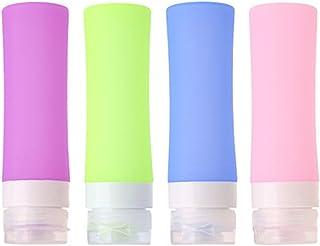 HoJoor Botellas de Viaje de Silicona FDA Certified 100% BPA Gratis Recipientes rellenables portátiles a Prueba de Fugas p...