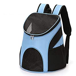 FHOMDOD Portable Backpack, Foldable Pet Chest Backpack, Light and Breathable, Suitable for Outdoor Travel, Sightseeing, Camping and Hiking, Etc.
