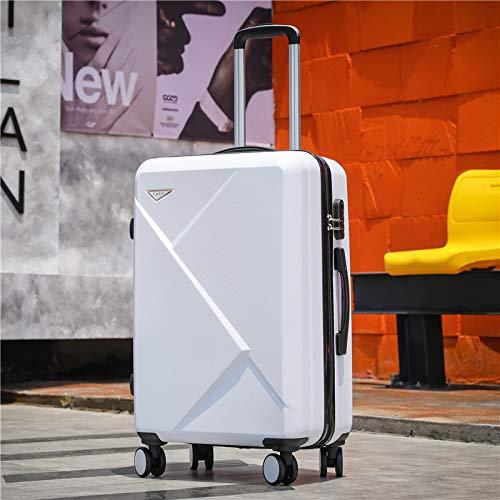 KQATCJ Ligero Maleta de Viaje de Equipaje de 20''24/28 Pulgadas en Las Ruedas 20 '' Carry On Cabin Trolley Equipaje Bolsa de Equipaje ABS + PC Maleta Conjunto de Moda para Salir por Negocios