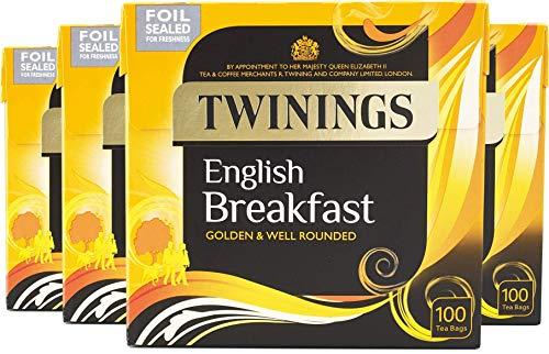 Twinings English Breakfast Tea 400 Tea Bags, (Multipack of 4 x 100 Bags)