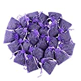 24 Small Purple Sachets Craft Bag with Dried French Lavender Flower Buds - Lavender Sachets for Wedding Toss,...