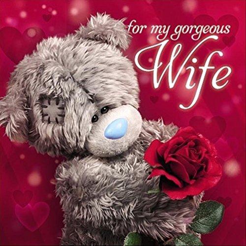 Me to You My Gorgeous Wife Valentine's Day Card - Tatty Teddy Bear