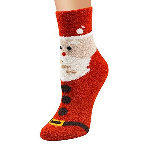TEBAISE Unisex Weihnachtssocken Christmas Socks Weihnachtsmotiv Weihnachten Festlicher Baumwolle Socken Mix Design für Damen und Herren Weihnachten Karneval Fasching