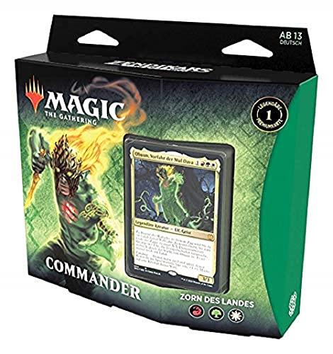 Magic The Gathering C77271000 Magic: The Gathering Zendikars Erneuerung Commander-Deck Zorn des Landes , spielbereites Deck mit 100 Karten, Rot-Grün-Weiß