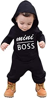Londony Toddler Kids Baby Letter Boys Girls Hoodie Outfits Clothes Romper Jumpsuit