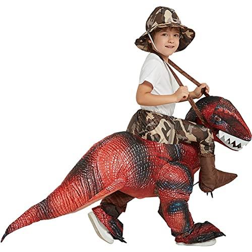 Disfraz inflable para adultos, Disfraz inflable para juguete unisex, Disfraces de Halloween Hombres Mujeres Jinete de dinosaurios 100-120cm