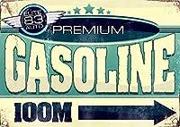 PREMIUM GASOLINE 100M ティンサイン ポスター ン サイン プレート ブリキ看板 ホーム バーために
