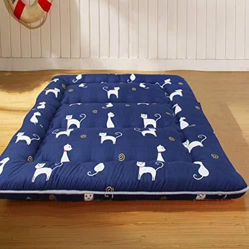 MKXF Colchoneta Mate Plegable para Dormir para Dormitorio, Dormitorio de Estudiantes, colchón de futón de Piso japonés Grueso