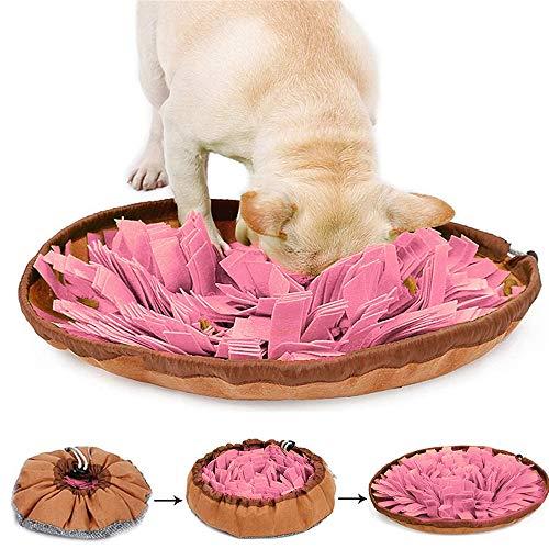 laamei Schnüffelteppich, Schnüffelteppich Hund Hunde Intelligenzspielzeug Washable Schnüffelspielzeug Schnupperteppich aus Filztuch