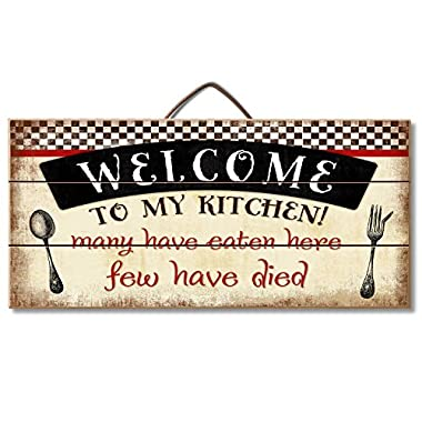 Highland Graphics Welcome to My Kitchen... Funny Wood Sign for Counter or Wall Decor by Highland Graphics