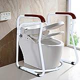 Cocoarm Toilettengestell Rutschfest Sicherheitsgestelle für Toiletten WC-Aufstehhilfe Badezimmer Toiletten Sicherheits Haltestange für Senioren - 3
