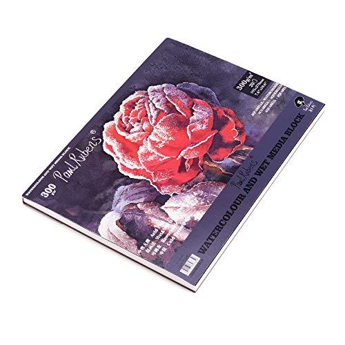 Paul Rubens Aquarellpapierblock, A4,50 Prozent Baumwolle, Lappen,Kunstlerqualitat,saurefreie, kaltgepresstes Papier, 7,6x 10 Zoll, 140 lb / 300 g/m2, 20 Blatt, 16k, 195 x 270 mm