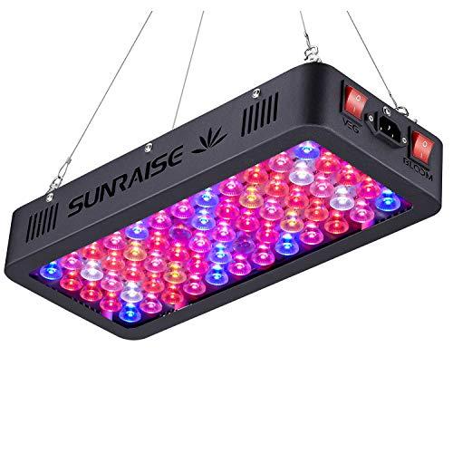 LED crece la luz espectro completo para plantas de interior Veg y flor SUNRAISE LED crece la lámpara con cadena de margarita triple chips LED