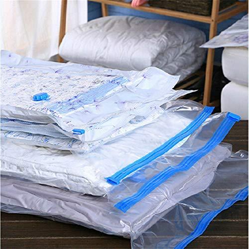 CCSMT 4 Size Space Saver Saving Storage Seal Jumbo Vacuum Bags Compressed Organizer Bag Rack Hanger Storage for Clothing,bedding (Size : 60X80)