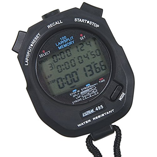 Ultrak 100 Lap Memory Timer, Black