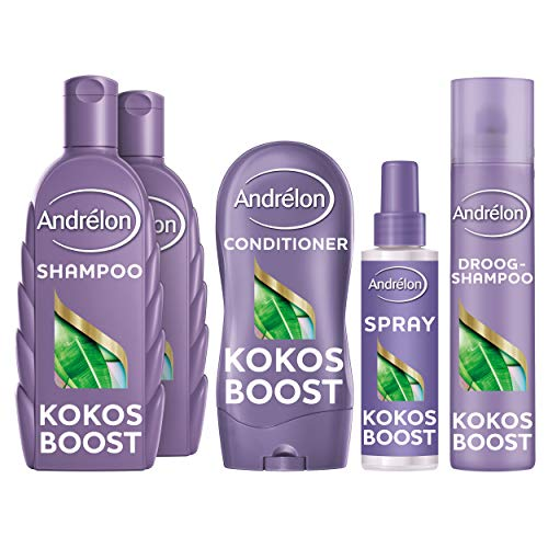 Andrélon Special Kokos Boost Pakket voor fijn haar Shampoo, Conditioner, Haarspray en Droogshampoo - 1 pakket