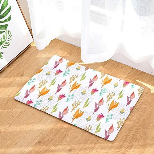 LZYMLG Pflanzendruckmatten Schlafzimmer Wohnzimmermatten Küchen Saugmatte Badezimmermatte L 50X80Cm