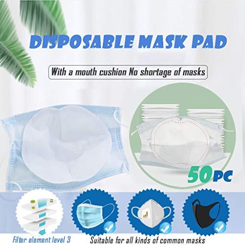 BESSKY Maskendichtung Gesichtsmaskenfilter Aktivkohle-Atemschutzfilter Maskenfilter zum Ersetzen von Staubmasken 50PC